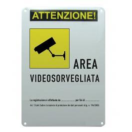 Cartello Area Videosorvegliata  con dati responsabile