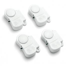 Pack di 4 mini allarmi per porte/finestre